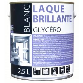 PEINT BATIR LAQUE GLYCERO BRILANT BLANC 2.5L