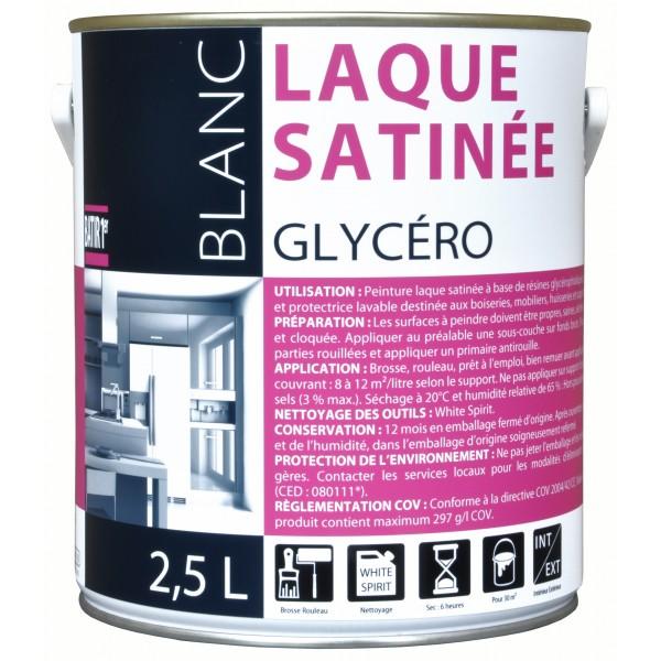 PEINT BATIR LAQUE GLYCERO SATIN BLC 2.5L