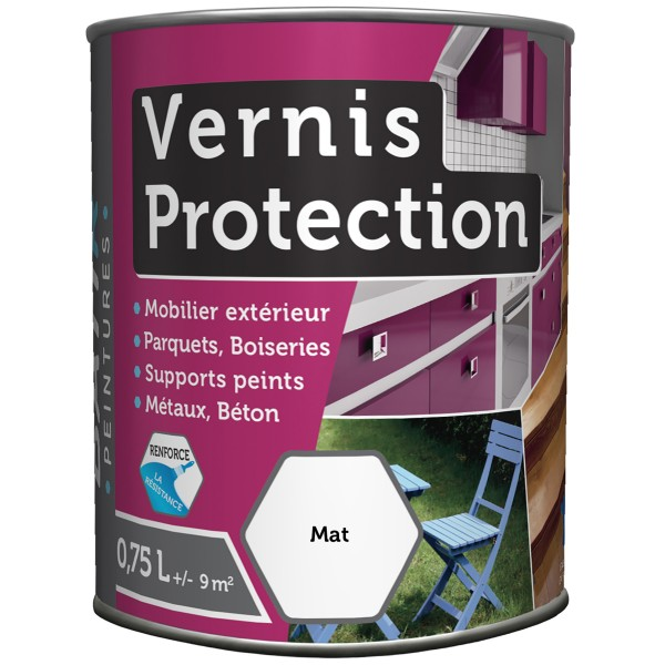VERNIS PROTECTION INCOLORE MAT 0.75L