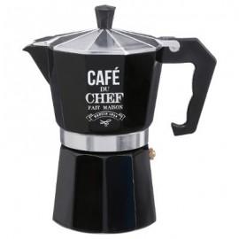 CAFETIERE ITALIENNE METAL NOIR 6 TASSES